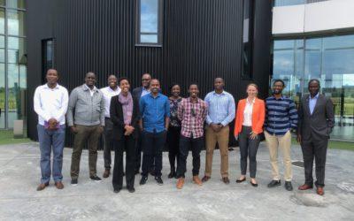 Delegation of Rwandans visiting DronePort