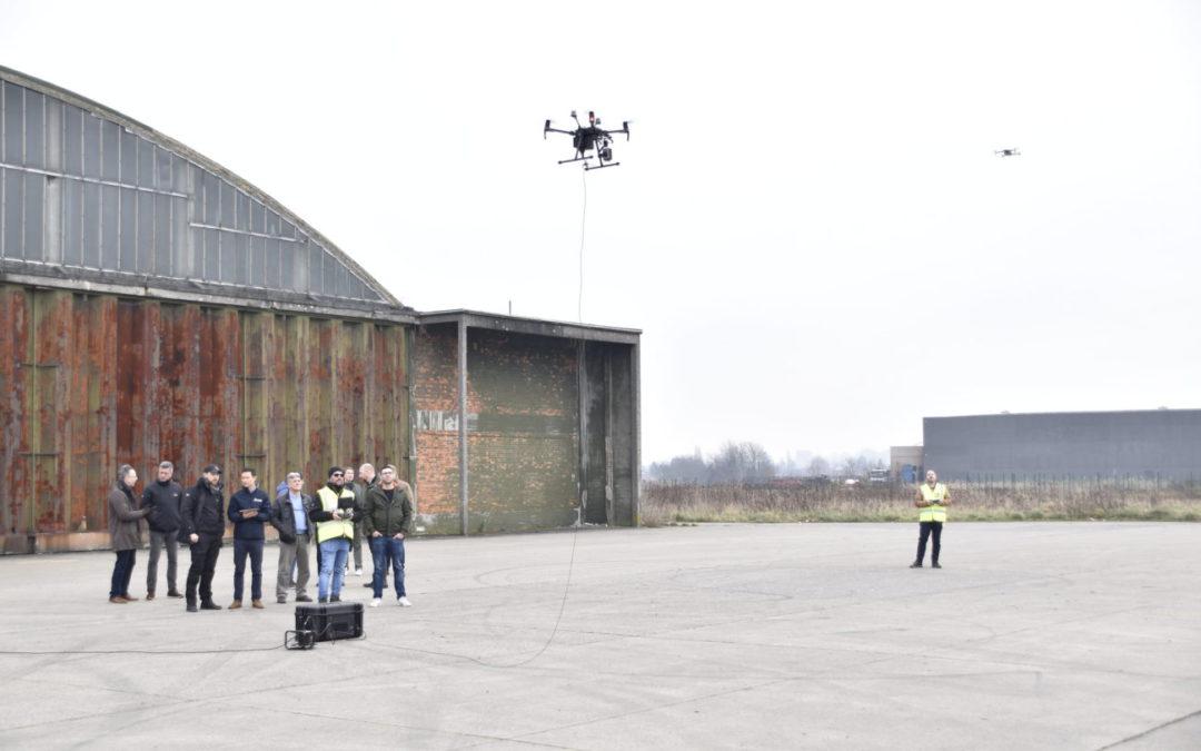 Elistair demonstreert drone tether systeem op DronePort