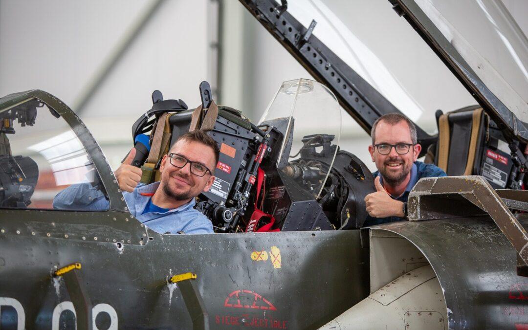 redactieraad van Hangar Flying bezoekt DronePort